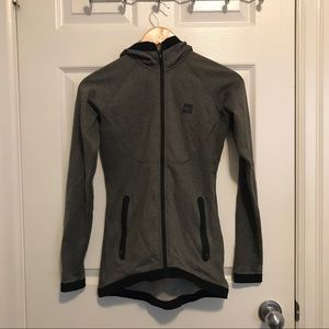 MEC- Charcoal Grey Zip up Longsleeve Sweater